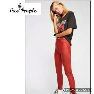 Free People size 24 vegan suede skinny never worn
